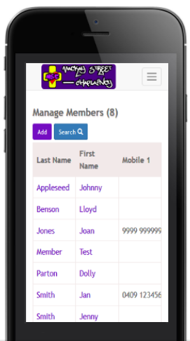 Example of Web App on a Mobile Device